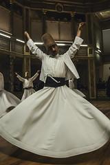 Dervish dance (Cheeky Pixels) Tags: dervish turkey istanbul trance whirl mystic sama sufi mevlevi religious ecstasy