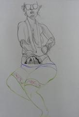 Oficina de Modelo-Exquis, UnB, 30 de junho 2012, n. 16 (Dona Mincia) Tags: woman distortion art creativity arte drawing mulher proportion desenho criatividade distoro colaborativo modeloexquis