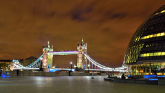 Tower of London and the City Hall (eakangk) Tags: longexposure nightlights londoncityhall towerbridgelondon