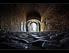 hmmm... should I go? (Pawelus) Tags: door old castle history gate time poland polska hdr gniew apiski