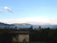 Mallorca (ingehoogendoorn) Tags: morning blue cloud mist mountains nevel smoke bergen rook mallorca ochtend wolk sinaasappels orangetrees pranges sinaasappelbomen biniaraix