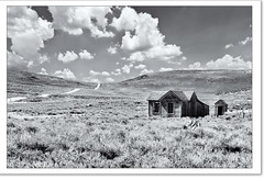 Bodie California (nailbender) Tags: clouds blackwhite solitude toned desolate countryroad califorina miningtown nailbender bodiecalifornia gosttown