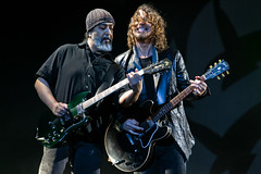 Chris Cornell and Kim Thayil of Soundgarden perform live at Hard Rock Calling in Hyde Park