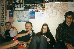 Friday hangout (Gary Kinsman) Tags: 2002 london film students youth fun university drink cigarette smoke young hampstead hallsofresidence nw3 kingscollegelondon kcl childshill studentcampus kidderporeavenue hampsteadstudentcampus