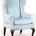 71. Queen Anne style Wing Back Chair