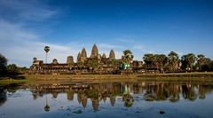Afternoon Light (DPGold Photos) Tags: travel reflection water temple asia southeastasia angkorwat unesco reflect siem siemreap angkor camboida dpgoldphotos