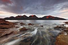 Hazard Lines (Tim Donnelly (TimboDon)) Tags: ocean seascape colour sunrise canon bay rocks australia tasmania hitech manfrotto coles waterscape thehazards colesbay