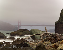 Land's End (ChasedPhotography) Tags: ocean sanfrancisco california goldengatepark bridge cliff beach water clouds bay gg waves driftwood goldengatebridge bayarea sfbayarea sanfransisco