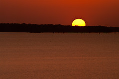 Early August Sunset At Millwood (Scott Dunson) Tags: sunset sun lake southwest pentax arkansas millwood dunson k20d