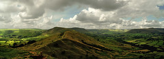 Winnats Pass to Kinder Scout. (sidibousaid60) Tags: sky panorama clouds derbyshire peakdistrict valleys edalevalley mamtor winnatspass hopevalley kinderscout backtor greatridge