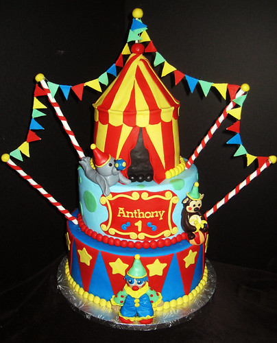 Strange Circus Themed Birthday Cake A Photo On Flickriver Funny Birthday Cards Online Elaedamsfinfo