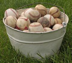 Shades of Baseball 08082012 (Orange Barn) Tags: white bucket beige cream baseballs 365daysincolour