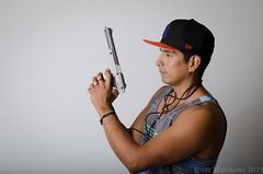 Nintendo Champ (Brett I Matthews) Tags: people man guy hat person nikon nintendo wired nikkor champ 18105mm d7000