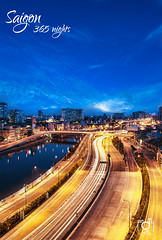 highway to heaven (Andy Le | +84908231181) Tags: road street city travel people urban tower andy skyline night canon buildings river lights hotel hall asia vietnamese chaos young culture vietnam explore le chi ho frontpage minh saigon committee trident