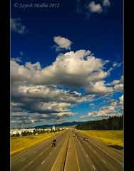 I-90, The Freeway (Tokina 11-16mm) (Jayesh Modha) Tags: clouds i90 spokanewa interstatehighway thefreeway atx116prodx tokina1116mmf28dxlens jayeshmodha jayeshmodhanikond90 cloudswithtokina interstatehighwaywithclouds