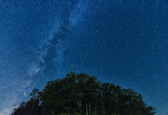 The Meteor and The Milky Way (Explored) (Michael Kline) Tags: newcastle august va 2012 milkyway meteorshower perseids craigcounty