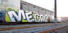 Mecro (TheHarshTruthOfTheCameraEye) Tags: california car train graffiti pacific union whole unionpacific northern freight reefer cdc wholecar armn merco benching