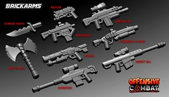 BrickArms Offensive Combat Series 1 - RENDERS (BrickArms) Tags: ferret lego badger peregrine libertine auger battleaxe u4ia brickarms combatknife offensivecombat furrberg aribter