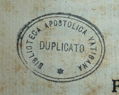 Duplicate stamp of the Biblioteca Apostolica Vaticana (Penn Provenance Project) Tags: stamps identified provenance bibliotecaapostolicavaticana pennlibraries cultureclasscollection italiancultureclasscollection ic6g1166636a