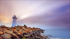 Ned's light, 10 stops (benjacobsen) Tags: lighthouse clouds sunrise 1635ii leegnd nedslighthouse 5diii lee10stopper leecp