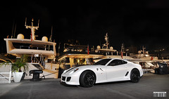 GTO (Willem Rodenburg) Tags: white haven beautiful by night photoshop nice nikon harbour yacht famous rich lifestyle ferrari montecarlo monaco diamond huge gto nightlife yachts limited edition rare supercar willem 1224 nightpicture gtb v12 599 fiorano d90 nightpic superyacht cs6 hypercar rodenburg 599gto