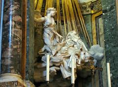 Bernini, Ecstasy of Saint Teresa oblique view, Cornaro Chapel, Santa Maria della Vittoria