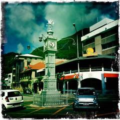 Mini Big Ben. (azurblue) Tags: square ile iphone isalnd mahé seychelle hipstamatic