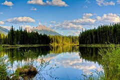 I am in love with this world (JoLoLog) Tags: trees lake canada mountains reflection joe alberta rockymountains hdr kananaskiscountry canadianrockies kcountry lowerkananaskislake canonxsi bestcapturesaoi elitegalleryaoi