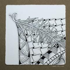 northwest (shebicycles) Tags: monochrome pen pencil tile square doodle ensemble zentangle