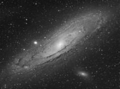 "M31 Andromeda Galaxy ""luminance"" (Terry Hancock www.downunderobservatory.com) Tags: camera sky monochrome night stars photography mono pier back backyard fotografie slim photos thomas space great shed science images off astro apo m observatory telescope andromeda galaxy m31 astronomy imaging messier ccd universe ngc224 ultra cosmos axis paramount luminance the lodestar teleskop astronomie byo refractor deepsky m32 f55 m110 guider autoguider starlightxpress Astrometrydotnet:status=solved Astrometrydotnet:version=14400 at2ff tmb92ss mks4000 qhy9m gt110s Astrometrydotnet:id=alpha20120809082894"
