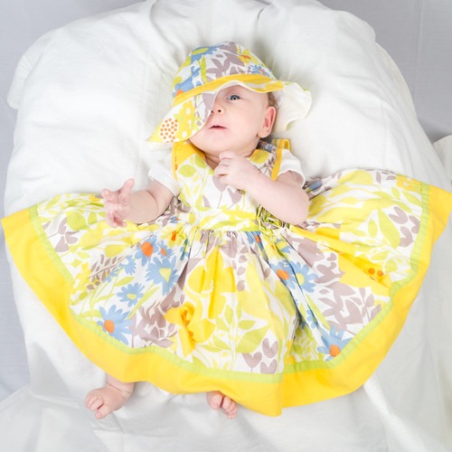 c5018e24ba52 Strobe shoot of baby girl in a yellow dress and hat - a photo on ...