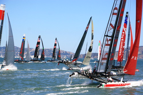 sanfrancisco sailing racing yachts americascup acws ac45