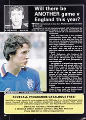 Scotland vs Holland - 1982 - Page 30 (The Sky Strikers) Tags: scotland holland netherlands official programme hampden park glasgow 60p international friendly