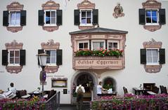 House facade in Kitzbhel (harald.bohn) Tags: gasthofeggerwirt gasthof vertshus tirol alpene alps litzbhel affof 2016 kitzbhel sterrike
