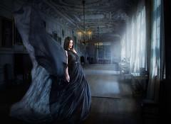 Kira's Nighty (Lost Light) Tags: spooky ghostly urbex model studio strobist glamour beauty night nightmare candle light moonlight kira krueger wdcc