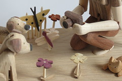 Jen, photography and terriers (Wanda Sowry) Tags: photography automata automaton toy mechanism cog cam wood wooden colour movement moving parts natural handle art craft present gift handmade woodwork artist photograher dogs flowers terriers nature butterfly woman camera