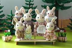 Milk familly (Lillune) Tags: sylvanian epoch calicocritters chocolate milk family baby grandparents