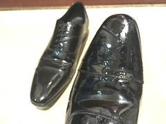 My shoes are now dirty -2 (muddy-suit) Tags: patent shoes leather suit