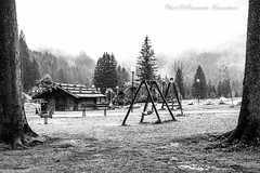 ... and I'm here and I do not know if I should stop or breathe. Life is a moment: take it if you can ... (alessandrafinocchiaro67) Tags: monochrome mountain black white nikond750 beauty rainy foggy martino di castrozza san play trees field mood nicefeelings