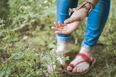 The delicate touch (neus_oliver) Tags: delicate plant nature plants garden hand girl red shoe green touch mnster germany explorer travel wanderlust outdoors inspiration summer holidays biology