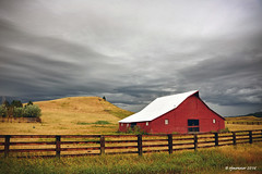 Stormy Skies_161628 (rjmonner) Tags: montana barn fence fencefriday stormy sky farmstead farming west western weather