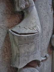 ca. 1406 - 'Batrice (Batrix) de Beau(s)sart (1419) and son Guillaume de Melun (+1406)', castle chapel, Chteau d'Antoing, Antoing, province of Hainaut, Belgium (roelipilami) Tags: 1406 beatrice beatrix de biausart beausart beaussart guillaume melun 1419 antoing chateau castle kasteel hainaut belgium dalle funraire grafbeeld grafplaat tomb effigy gisant sepulcro grabmal grabdenkmal grafmonument grave son mother tabard surcotte surcoat mail standard boy belt houppelande titling helm frog mouth helmet bull crest spur armor armour knight ritter rstung harnas armure sabaton wapenrok cimier helmteken zimier