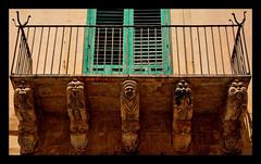 Noto - Siracusa (Massimo Frasson) Tags: italia italy sicilia siracusa noto centrostorico oldcity pittoresco villaggio valdinoto barocco architetture street strada grottesco terrazza balcone palazzo sculture