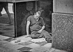 HIS DAY (panache2620) Tags: drunk bw canon canon70d eos street photojournalism streetphotography poor forgotten overlooked despair