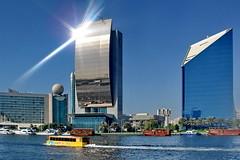 Dubai Creek 1 (gerard eder) Tags: world travel reise viajes asia middleeast uae unitedarabemirates vae dubai creek dubaicreek skyline boats boote barcos dhau architecture architektur arquitectura