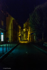 Braov street (Askjell's Photo - @work - very slow internet) Tags: brasov braov night romania spooky ghost ghostly hounted mystic mysticism