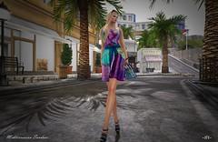 Mediterranean Sundace... (foxxiehunie) Tags: secondlife outdoor fashion destinations dress shoe jewelry hair