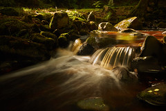 Dappled stream (another_scotsman) Tags: waterfall river forest longexposure