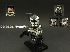 Star Wars: Commander Wolffe (MHU Customs) Tags: lego star wars clones custom