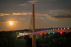 Moonrise over the Penobscot Narrows Bridge (Relicords Entertainment) Tags: maine moon night penobscot narrows bridge verona island river